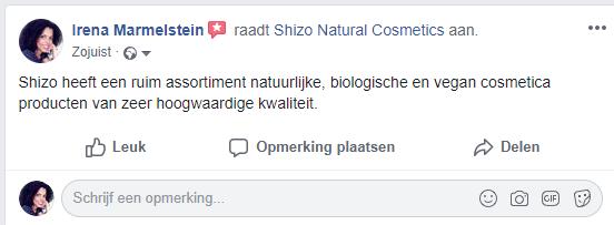 Positieve aanbeveling op Facebook